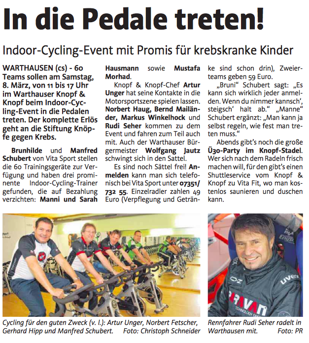 Indoor Cycling Warthausen