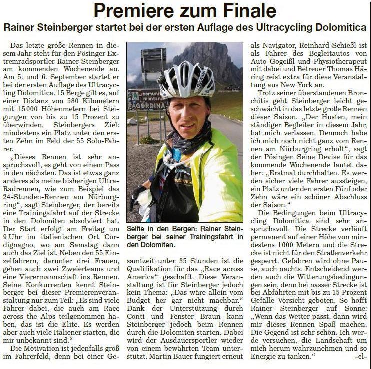 Dolomitica Pressebericht